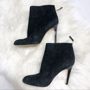 Sam Edelman Black Heeled Suede Ankle Booties 9